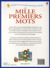 Les mille premiers mots - 4ème de couverture - Format classique