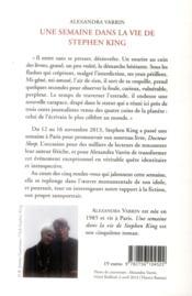 Une semaine dans la vie de Stephen King - 4ème de couverture - Format classique