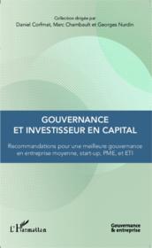 Gouvernance et investisseur en capital ; recommandations pour une meilleur gouvernance en entreprise moyenne, start-up, PME et ETI - Couverture - Format classique