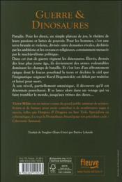 Guerre & dinosaures T.1 - 4ème de couverture - Format classique