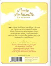 Marie-Antoinette et ses soeurs T.2 ; premiers bals - 4ème de couverture - Format classique