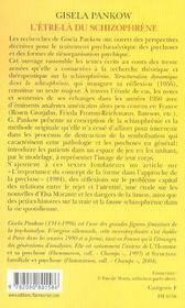 L'Etre-La Du Schizophrene - 4ème de couverture - Format classique