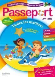 Passeport ; de la PS à la MS (édition 2021) - Couverture - Format classique