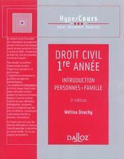 Droit Civil ; 1e Annee - Intérieur - Format classique