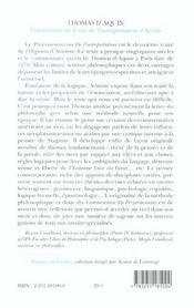 Commentaire du traite interpretation d'aristote - 4ème de couverture - Format classique