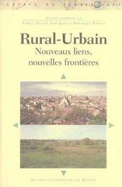 Rural-urbain nouveaux liens, nouvelles frontieres - Intérieur - Format classique