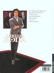 Niklos Koda t.5 ; hali mirvic - 4ème de couverture - Format classique