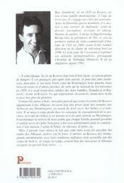 Vie et mort dans les balkans ; la saga d'une famille de montenegro - 4ème de couverture - Format classique