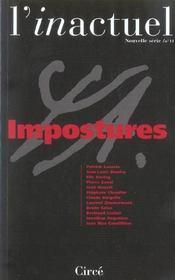 Revue L'Inactuel 11 - Impostures - Intérieur - Format classique