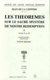 Les theoremes sur le sacre mystere de notre redemption - Couverture - Format classique