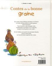 Contes de la bonne graine - 4ème de couverture - Format classique