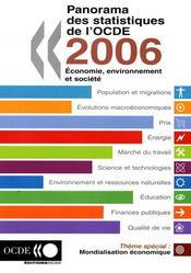 Panorama des statistiques de l'ocde 2006 : économie, environnement et société - Intérieur - Format classique