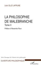 La philosophie de Malebranche t.2 - Couverture - Format classique