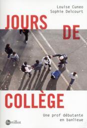 Jours de collège - Couverture - Format classique