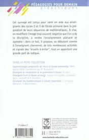 Enseigner Les Mathematiques A L'Ecole - 4ème de couverture - Format classique