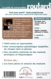 Le guide de conversation Routard ; russe - 4ème de couverture - Format classique