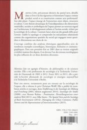 Sociologie de l'espace - 4ème de couverture - Format classique