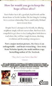 The Choice movie tie-in* - 4ème de couverture - Format classique