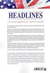 Current issues ; lire la presse anglophone en 21 dossiers - 4ème de couverture - Format classique