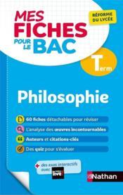 MES FICHES ABC DU BAC T.12 ; philosophie : terminale (édition 2020) - Couverture - Format classique