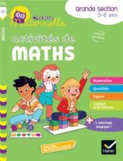 Chouette maternelle ; activités de maths ; GS - Couverture - Format classique
