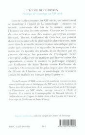 Theologie et cosmologie au xiieme s. - 4ème de couverture - Format classique
