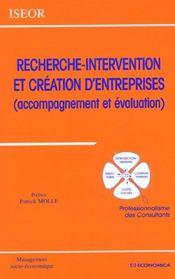 Recherche-Intervention Et Creation D'Entreprise - Intérieur - Format classique