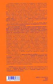 Recherche-Intervention Et Creation D'Entreprise - 4ème de couverture - Format classique