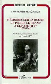 Mémoires sur la russie de pierre le grand à élisabeth 1ère - Intérieur - Format classique