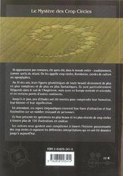 Le mystères des crop circles - 4ème de couverture - Format classique
