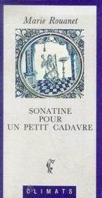 Sonatine Pour Un Petit Cadavre - Couverture - Format classique
