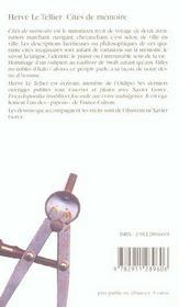 Cites De Memoire - 4ème de couverture - Format classique