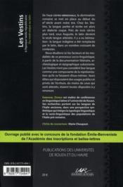 Les Vestins à l'époque tardo-républicaine ; du nord-osque au latin - 4ème de couverture - Format classique
