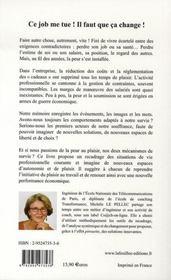 Mon Job ; De La Peur Au Plaisir ; 28 Conseils - 4ème de couverture - Format classique