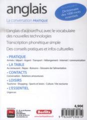 Guide de conversation anglais - 4ème de couverture - Format classique
