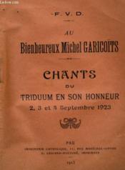 Au Bienheureux Michel Garicoits - Couverture - Format classique