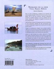 Nomades de la mer - 4ème de couverture - Format classique