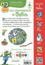 Les champignons de Ratus - 4ème de couverture - Format classique