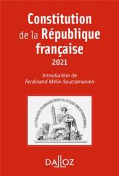 Constitution de la République française - Couverture - Format classique