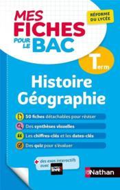MES FICHES ABC DU BAC T.16 ; histoire géographie ; terminale (édition 2020) - Couverture - Format classique