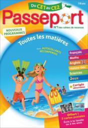 Passeport ; toutes les matières ; du CE1 au CE2 - Couverture - Format classique