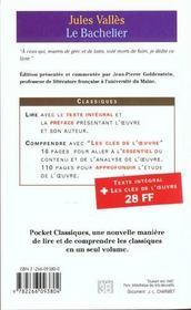 Le Bachelier - 4ème de couverture - Format classique