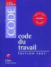 Code Du Travail 2003 - Intérieur - Format classique