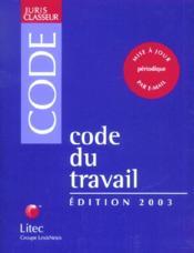 Code Du Travail 2003 - Couverture - Format classique