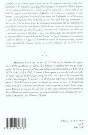 Le General Et Le Chancelier - 4ème de couverture - Format classique