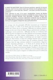 Le Droit De La Biologie Humaine Vieux Debats Nouveaux Enjeux - 4ème de couverture - Format classique