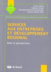 Services Aux Entreprises Et Developpement Regional. - Couverture - Format classique