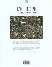 Europe Vue Par Satellite (L') - 4ème de couverture - Format classique