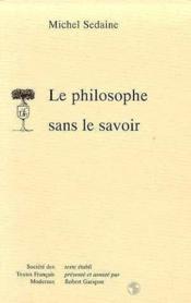 Le philosophe sans le savoir comedie - Couverture - Format classique