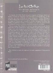 Roi arthur - 4ème de couverture - Format classique